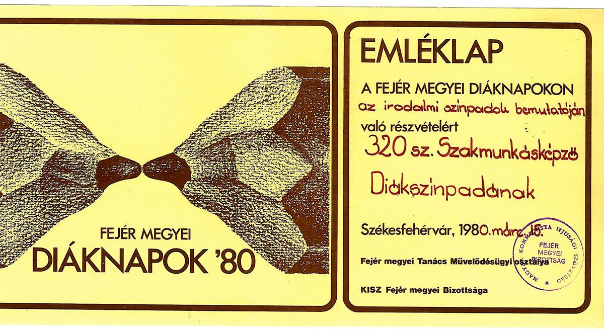 Egy oklevél 1980-ból